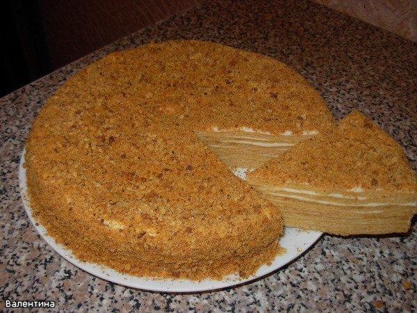 Медовый торт домашний простой рецепт